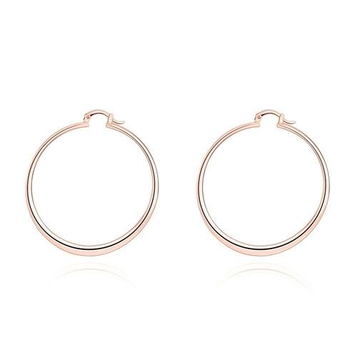 minimal rose gold hoop earrings